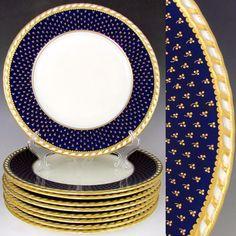 Bread Plate Rosenthal EMPIRE blue laurel wreath//cream//blue /& gold band