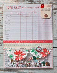 Mish Mash: Project December....confetti list pocket