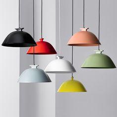 French designer Inga Sempé presents a collection of LED pendant lamps for Swedish lighting brand Wästberg at Stockholm Furniture & Light Fair.
