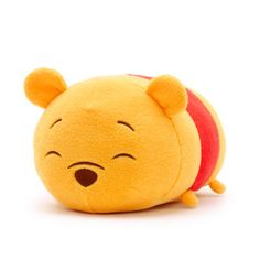 Our Winnie the Pooh Tsum Tsum soft toy is a must have for any Disney fan's collection. Made from super soft plush fabric, the stackable Tsum Tsum features fun 3D ears and an adorable embroidered expression.