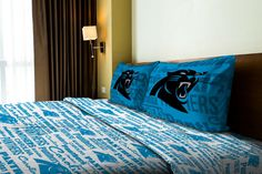 Use this Exclusive coupon code: PINFIVE to receive an additional 5% off the Carolina Panthers Anthem Twin Sheet Set at sportsfansplus.com