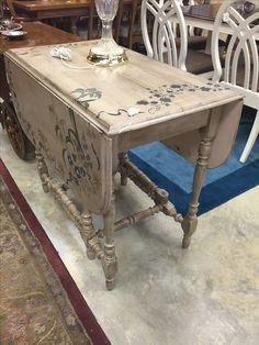 Gorgeous detailed drop leaf table- $245 #table #dropleaf #home #house #apartment #paint #homedesign #homedecor #designer #kitchen #sale