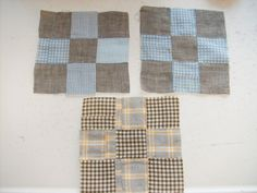 Vintage Iowa Amish all HAND STITCHED Quilt Squares Primitive  just listed Thursday evening March 28 2013 at FourSistersInACottage.com