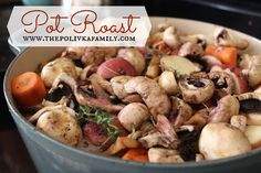 This little classic number is sure to warm your insides and please your taste buds. Smooth and savory—you've had pot roast before. You know what this is about. But just like a good cup o' joe, everyone's take on this dish is different. / http://www.thepolivkafamily.com/2013/03/pot-roast-baby/