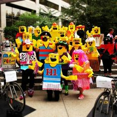 Everything about this LEGO group costume is awesome.
