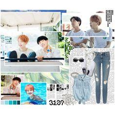 BTS [Bangtan Boys] - Suga & J-Hope by kairimikio on Polyvore featuring polyvore fashion style Frame Denim Keds Whistles