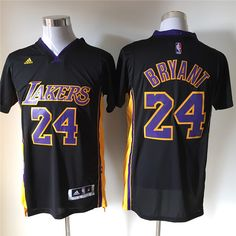 Los Angeles Lakers #24 Bryant Black Men 2017 New Logo NBA Adidas Jersey