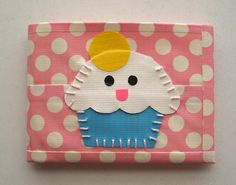 Cupcake Bifold Duct Tape Wallet - Polka Dot