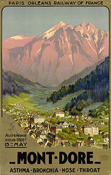 Vintage Travel Poster - Mont Doré - Auvergne.