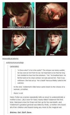 Voldemort's fate twice came down to the choice of a woman, a mother.