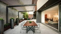 The wooden pergola is a good solution to add beauty to your garden. If you are not ready to spend thousands of dollars for building a cozy pergola then you may devise new strategies of trying out something different so that you can re Pergola Kits, Outdoor Rooms, Modern Pergola, Pergola Designs, Outdoor Design, Modern Patio Design