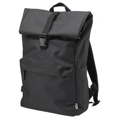 IKEA - STARTTID, Backpack, black, The side opening makes it easy to access items, even when the backpack is fully packed. The adjustable and padded shoulder straps keep the backpack firmly in place and make it feel comfortable to wear. Mochila Picnic, Black Backpack, Backpack Bags, Picnic Backpack, Hold Your Peace, How To Make Shorts, How To Wear, Online Checks, At Home Furniture Store