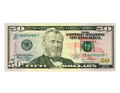 The Fifty Dollar Bill: Ulysses S. Grant, the 18th President of the United States, served from 1869-1877.