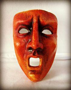 Red Tragic Mardi Gras Masquerade Mask