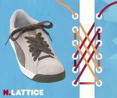 this site has 15 cool ways to lace up your sneakers!