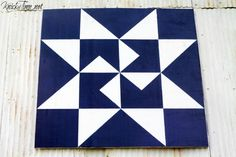 Barn quilts grace beautiful old barns through America's heartland. See how I created my own at Knick of Time.