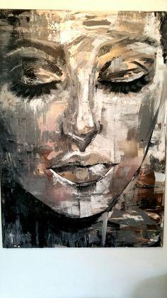 Marion nap - New Ideas Abstract Portrait, Portrait Art, Art Sketches, Art Drawings, Tableau Pop Art, Arte Pop, Face Art, Art Techniques, Painting & Drawing
