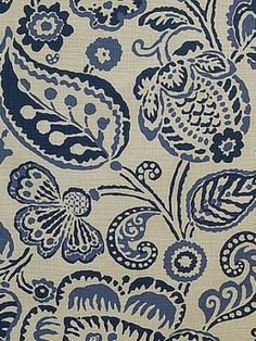 Blue and White Monday Budget Friendly Fabric from The Glam Pad. Pindler and Pindler Batik Textiles, Textile Patterns, Print Patterns, Fun Patterns, Floral Patterns, Blue And White Fabric, White Fabrics, Fabric Wallpaper, Of Wallpaper