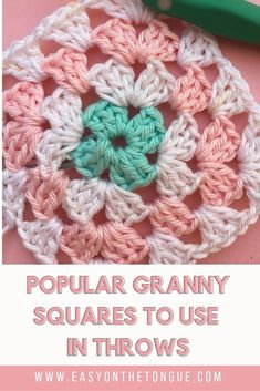 The most popular Granny Squares to use for Throws 2019 A selection of the most. The most popular Granny Squares to use for Throws 2019 A selection of the most. : The most popular Granny Squares to u. Crochet Squares, Crochet Granny, Granny Squares, Afghan Crochet, Granny Granny, Crochet Cushions, Crochet Blocks, Crochet Pillow, Crochet Blankets