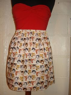 Crazy Cat Lady Skirt Kitten Face Skirt by sweetcheeksstitches