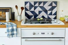 Use a board to adhere real tiles