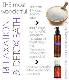 Recipe for relaxation and detox bath!! Details on the post. #Detox
