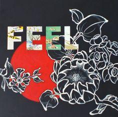 FEEL (Acrylbild/Collage) von Sonja Grebe auf DaWanda.com