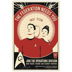 "Red Shirt Recruitment: Star Trek 16"" X 24"" Lithograph Poster. Art Print. Bye Bye Robot LLC http://www.amazon.com/dp/B00AZHI59Q/ref=cm_sw_r_pi_dp_XiWXtb0MY7AYTSEW"
