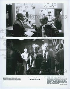 """1988 Press Photo James Caan and Mandy Patinkin in """"Alien Nation"""""""