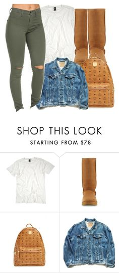 """Sans titre #370"" by lesliekabengele ❤ liked on Polyvore featuring UGG, MCM and Levi's"