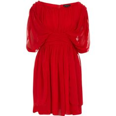 Red Grecian dress ($27) ❤ liked on Polyvore