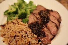 Recipe: Grilled Steak with Espresso Balsamic Vinegar Glaze