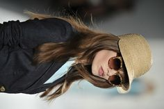 Love a raffia newsboy cap for spring