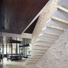 Would you be able to walk up this floating staircase?