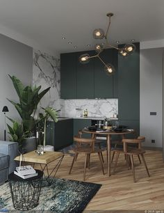 35 Beautiful And Affordable Dining Room Decoration Ideas For the Year 30 - Expolore the best and the special ideas about Dining room design Modern Interior Design, Interior Design Kitchen, Interior Design Inspiration, Kitchen Decor, Design Ideas, Kitchen Ideas, Luxury Interior, Green Kitchen, Modern Interiors