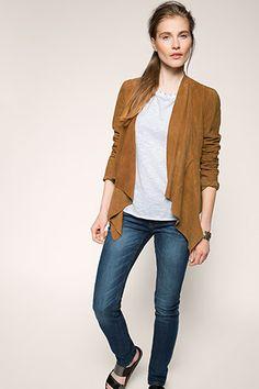 Esprit - fashion leather jacket im Online Shop kaufen