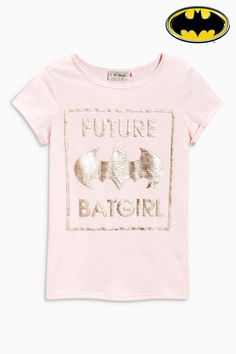 Buy Pink Foil Batgirl T-Shirt from the Next UK Batman online shop Baby Superhero, Superhero Fashion, Girls Tees, Shirts For Girls, Batman Girl, Star Wars Baby, Marvel Girls, Batgirl, Printed Shirts