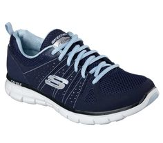 Add some fun style to your collection with the SKECHERS Synergy - Look Book shoe. Smooth leather and mesh upper in a lace up athletic sporty comfort walking sneaker with stitching accents and Memory Foam insole.