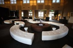 Curved lounge seating