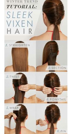 easy pulled-back hair style