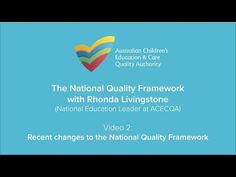 Rhonda Livingstone, ACECQA's National Education Leader, was interviewed about the changes to the National Quality Framework and discusses the background to t. National Quality Framework, Livingston, Author, Change, Education, Youtube, Writers, Livingstone, Learning