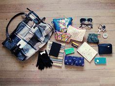 Purse essentials. #target #poketo #anthropologie #missoni #otterbox