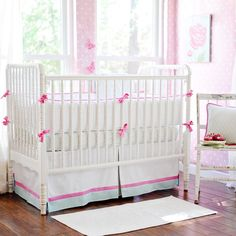 Sweet Baby Jane Crib Bedding by New Arrivals Inc. at Luxury Baby Nursery Baby Crib Sets, Baby Girl Crib Bedding, Baby Bedding Sets, Crib Bedding Sets, Nursery Bedding, Baby Cribs, Girl Nursery, Baby Baby, Sweet Baby Jane
