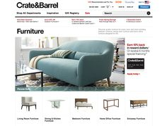 crateandbarrel.com category page