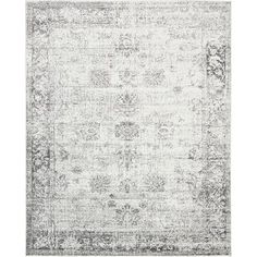 Add a chic foundation to your master suite or study with this lovely rug, showcasing a weathered medallion motif in light gray.