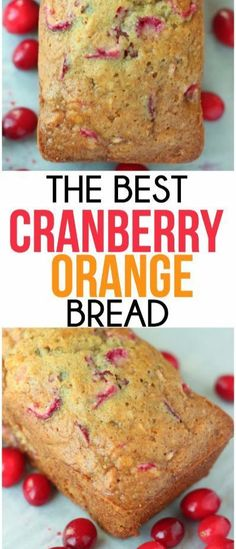 This is the best cranberry orange bread recipe, perfect breakfast or treat for all during the holidays!