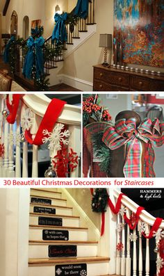 30 Beautiful Christmas Decorations That Turn Your Staircase into a Fairy tale