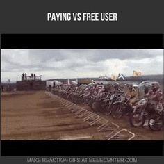 paying vs free user