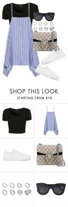 """""""Untitled #4210"""" by lily-tubman ❤ liked on Polyvore featuring Topshop, Balenciaga, Jil Sander, Gucci, ASOS and CÉLINE"""