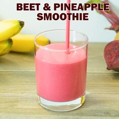 Red Beet Smoothie – A delicious and healthy smoothie made with bananas, beets, pineapple, and yogurt. Perfect for breakfast, or as an afternoon treat. Fruit Smoothie Recipes, Juice Smoothie, Smoothie Drinks, Protein Smoothies, Smoothies With Beets, Smoothies With Pineapple, Recipes For Healthy Smoothies, Lactose Free Smoothies, Coconut Water Smoothie
